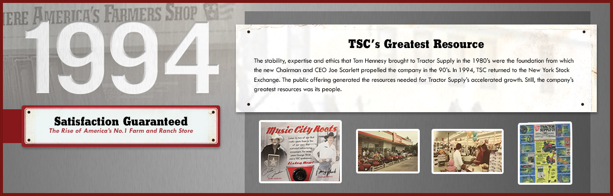 Tractor Supply Company; 1994 - TSC's Greatest Resource