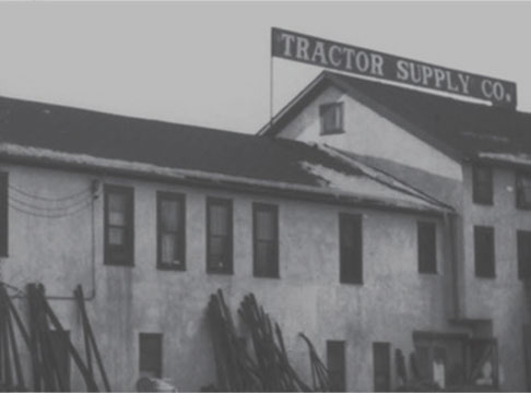 Historical Image of an Early Tractor Supply Store