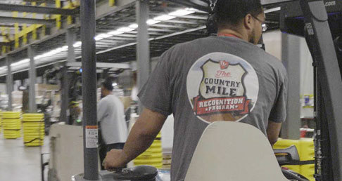 TSC Team Member working in a Tractor Supply Company Distribution Center